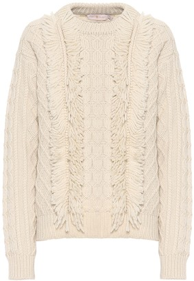 Tory Burch Fringe wool sweater