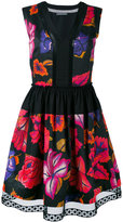 Alberta Ferretti printed sleeveless shift dress - women - Cotton - 42