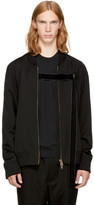 Song For The Mute Black mute Strap Bomber Jacket