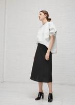 Yang Li black minimal midi skirt