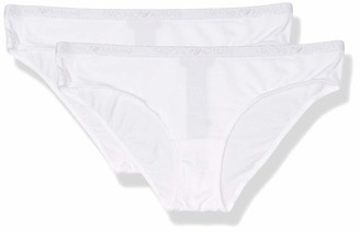 Emporio Armani Women's Basic Cotton 2-Pack Brief