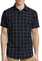 Jf J.Ferrar JF Short-Sleeve Windowpane Woven Button-Front Shirt