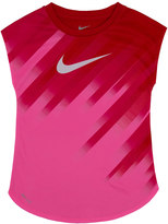 Nike Girls 4-6x Dri-FIT Curved Sublimated Pattern Tee