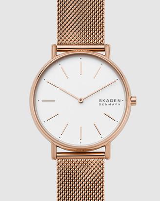 Skagen Signatur Rose Gold-Tone Analogue Watch
