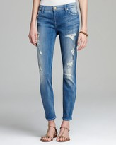 7 For All Mankind Jeans - The Skinny in Destroyed Bright Indigo