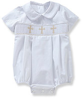 Edgehill Collection Baby Boys 3-9 Months Cross Smocked Christening Shortall