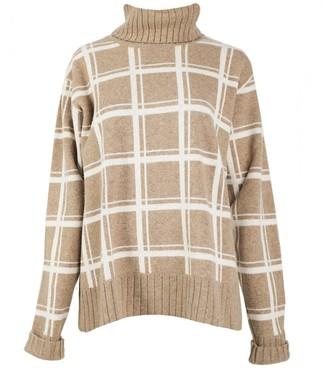 Woolish Sato Rollneck Merino Sweater Beige White