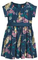 Tea Collection Girl's Caledonian Forest Sash Dress