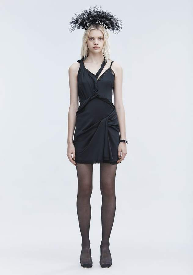 Alexander Wang TWISTED SLIP DRESS