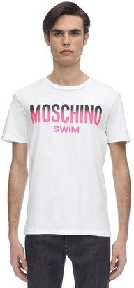 Moschino Logo Print Cotton T-Shirt