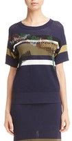 Kenzo Women's Broken Camo Mesh Knit Top