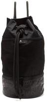 adidas by Stella McCartney Gym Sack Canvas Shoulder Bag - Womens - Black