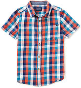 Lucky Brand Big Boys 8-20 Plaid Short-Sleeve Poplin Shirt