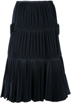 Toga midi pleated skirt