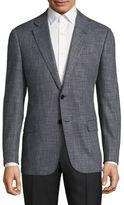 Armani Collezioni Textured Virgin Wool Blend Jacket