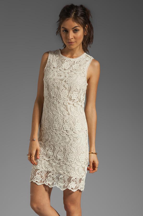 Joie Vionne Crochet Lace Dress