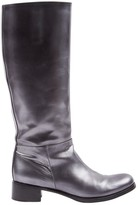 Prada Silver Leather Boots