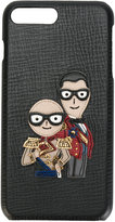 Dolce & Gabbana military designer's patch iPhone 7 case - men - Leather - One Size