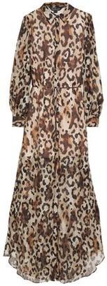 Rachel Zoe Leopard-print Chiffon Maxi Shirt Dress