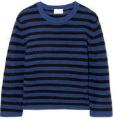 Allude Striped Cashmere Sweater - Blue