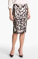 Diane von Furstenberg 'Mae' Mikado Pencil Skirt