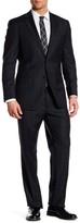Hart Schaffner Marx Grey Plaid Two Button Notch Lapel Wool Suit