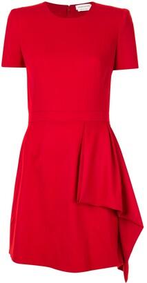 Alexander McQueen Drape Detail Mini Dress