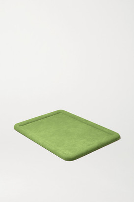 LAUREN RUBINSKI Suede Jewelry Tray - Army green