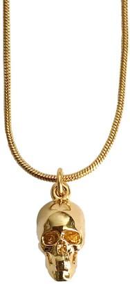 Roz Buehrlen Gold Skull Pendant