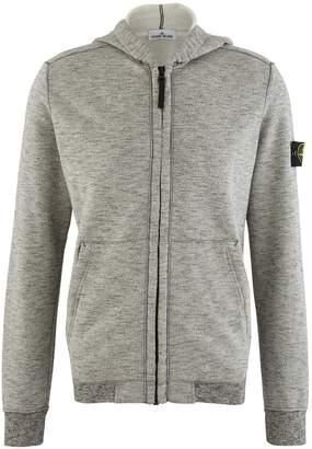 Stone Island Flecked cotton zipped hoodie