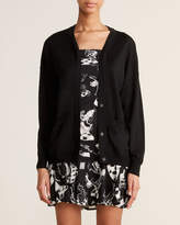Moschino Black Twofer Wool Cardigan Dress