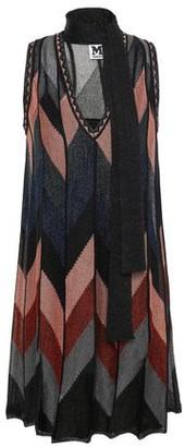 M Missoni Tie-neck Metallic Crochet-knit Mini Dress