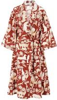 Safari Robe in Protea Red