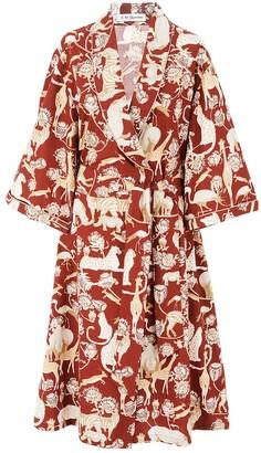 C. St. Quinton Safari Robe in Protea Red