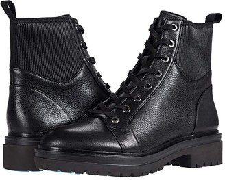 Kenneth Cole New York Rhode Light Lace-Up (Black Leather) Women's Boots