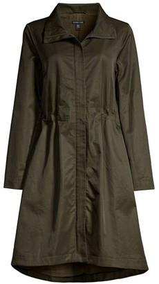 Eileen Fisher Organic Cotton-Blend Flare Coat