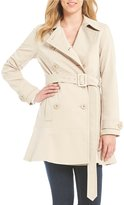 Kate Spade Double Breasted Peplum Hem Rain Trench Coat