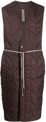 Rick Owens Quilted Sleeveless Coat