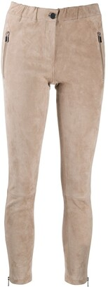 Arma Suede Skinny Trousers