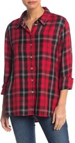 Sanctuary Life Of The Party Plaid Boyfriend Shirt (Petite)