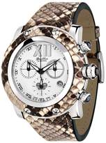 Glam Rock Women's GR10176 Miami Collection Chronograph Brown Python Watch