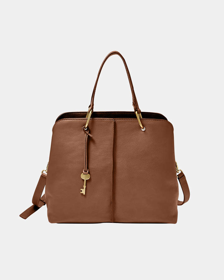 Fossil Lane Brown Satchel