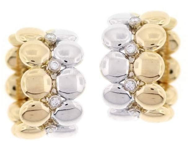 Cartier Two Tone Diamond Earrings