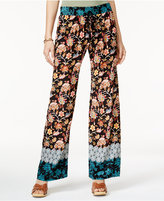 Be Bop Juniors' Mixed-Print Palazzo Pants