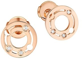Dinh Van Pulse Diamond 18K Rose Gold Studs
