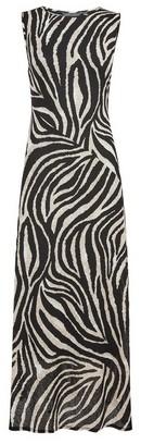 Dorothy Perkins Womens Tall Black Zebra Print Midi Dress, Black