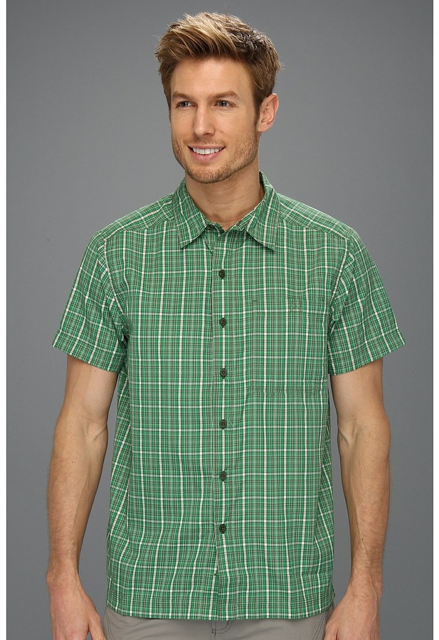 The North Face S/S Hypress Woven (Arden Green Plaid) - Apparel