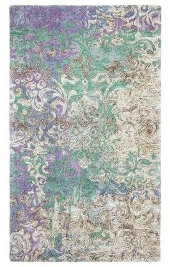 Company C Marquesa Abstract Handmade Tufted Blue/Purple Area Rug CompanyC Rug Size: Rectangle 3' x 5'