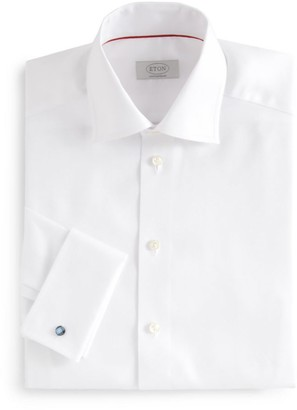 Eton Contemporary-Fit French-Cuff Twill Dress Shirt