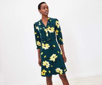 Oasis Floral Ruffle Shirt Dress